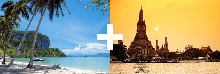 Velg en kombinasjonsreise i Thailand. Da får du en opplevelse du sent vil glemme.