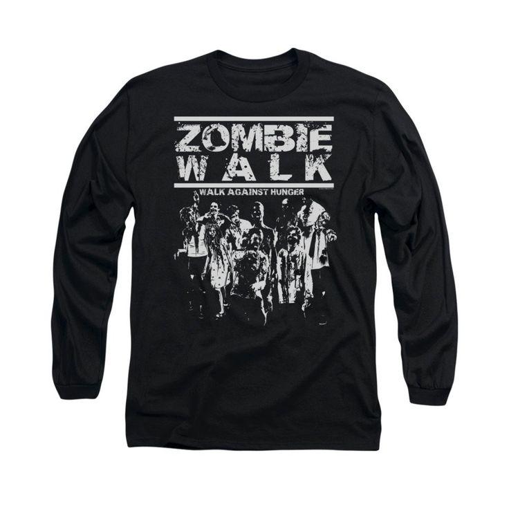 Zombie Walk Adult Long Sleeve T-Shirt