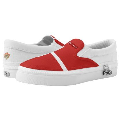 #Danish flag Slip-On sneakers - #womens #shoes #womensshoes #custom #cool