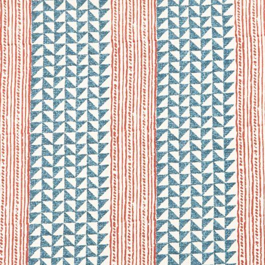 Carolina Irving - Aegean stripe handprinted on linen