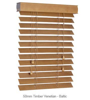 50mm Timber Venetian Blinds - Baltic #blinds
