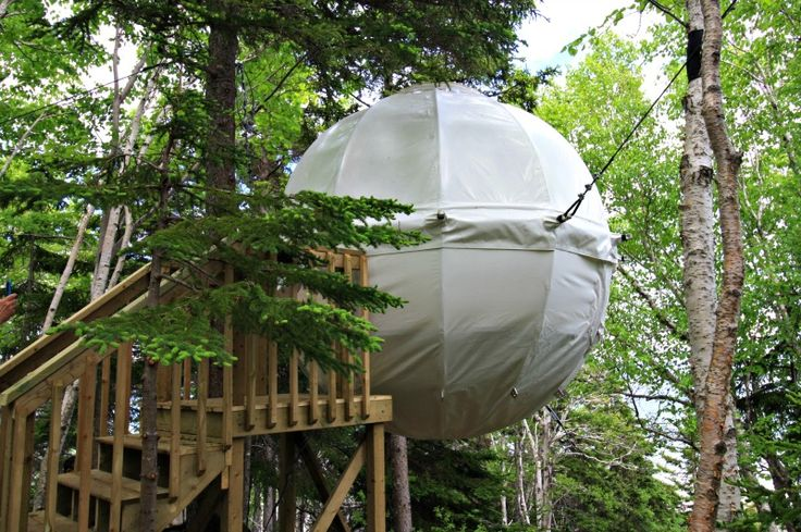 Parks Canada Cocoon Tent - Parks Canada's Cocoon Tree Bed Details:  When: Trial for the summer 2016 season Where: Ingonish Beach Campground, Cape Breton Highlands Cost: $70 per night To book Cocoon: 1-902-285-2535 To book oTENTik and other accommodations:  www.pccamping.ca or 1-877-RESERVE (1-877-737-3783)