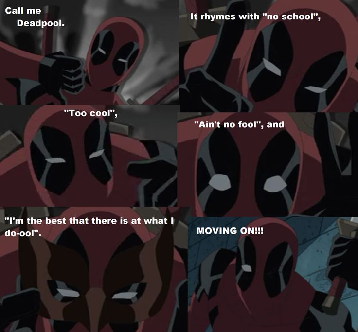 """From """"Ultimate Deadpool"""" episode of Ultimate Spiderman my favorite episode of this show besides the guardians of the galaxy"""