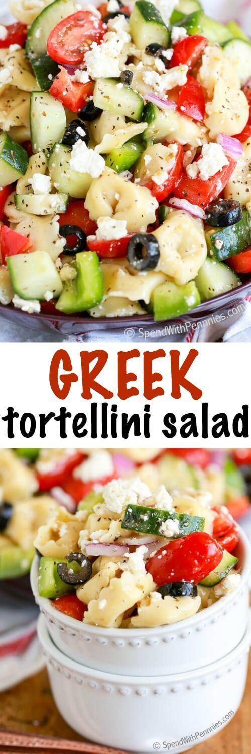 All Things Savory: Greek Tortellini Salad - Spend With Pennies