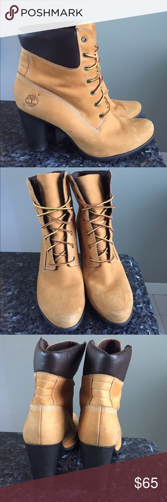 Women's Timberland High Heel boots size 7.5 Timberland heels size 7.5, they are used but for the most part Great condition :) Timberland Shoes Heels