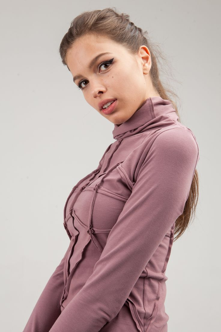 Roll-neck decorated with outseams forming geometric pattern on the front and on the back. Long sleeves with placketings for the thumbs. #mariashi #fashion #newcollection #nofilter #outfit #outfitoftheday #outfits #outfitpost #clothes #fashionista #fashiondesigner #shopping