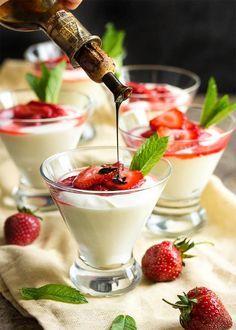 Balsamic Strawberry Mascarpone Mousse