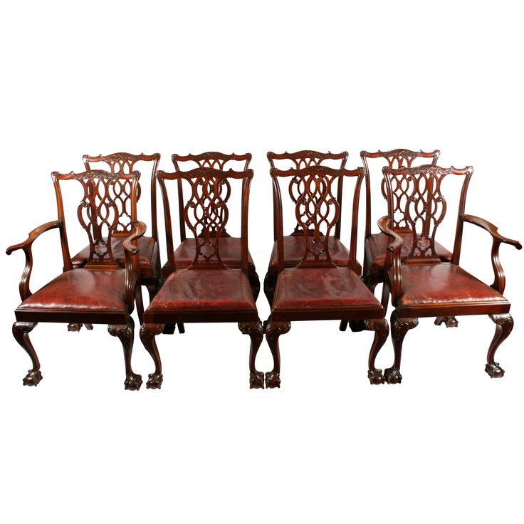 Set of Eight Chippendale Style Chairs