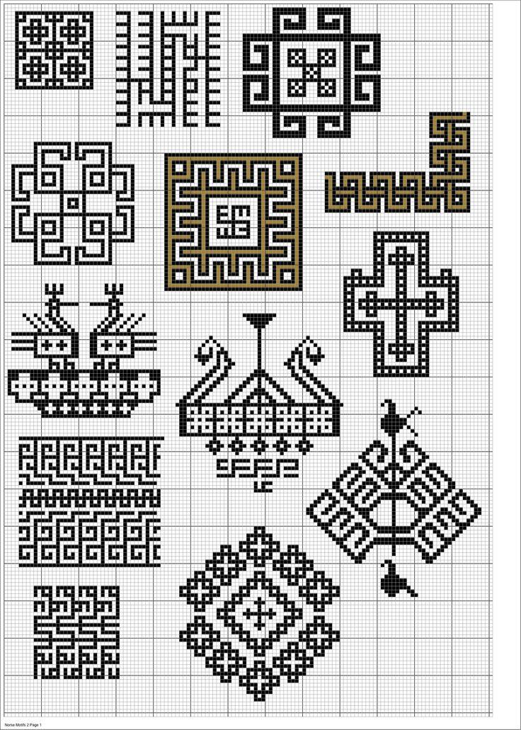 Norse Cross Cross Stitch Pattern https://southwarkstitches.wordpress.com/page/2/