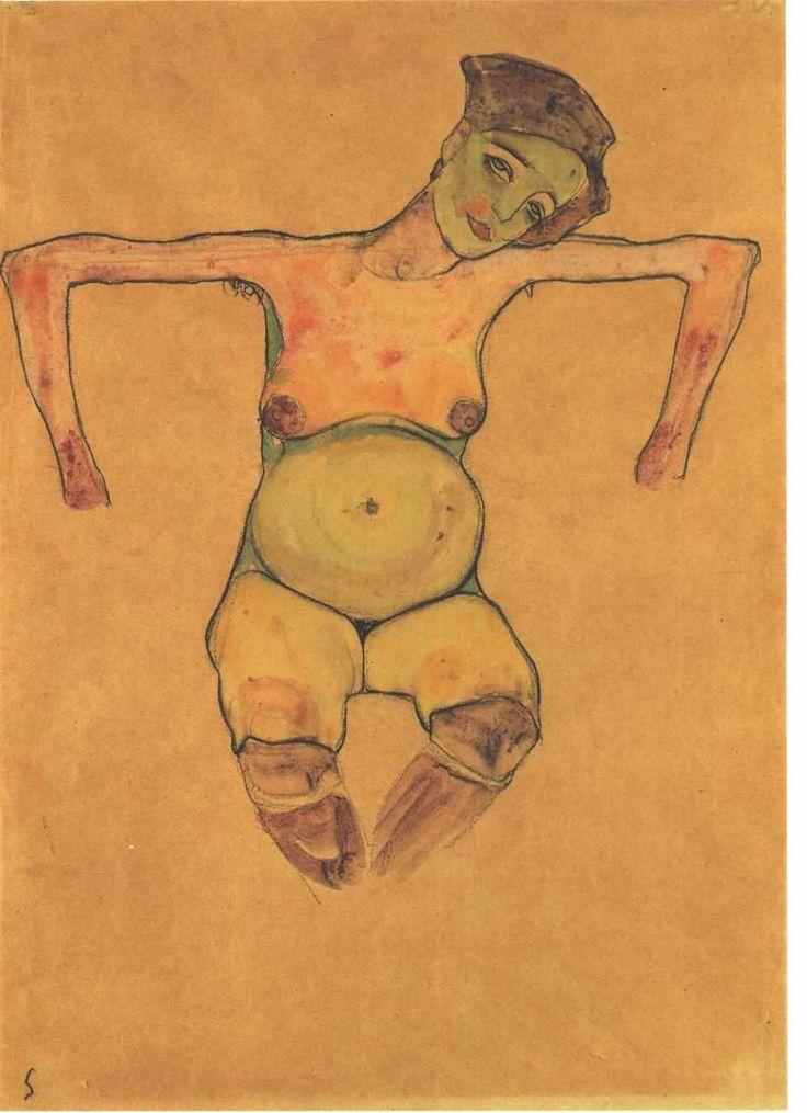 Egon Schiele, Pregnant woman, 1911