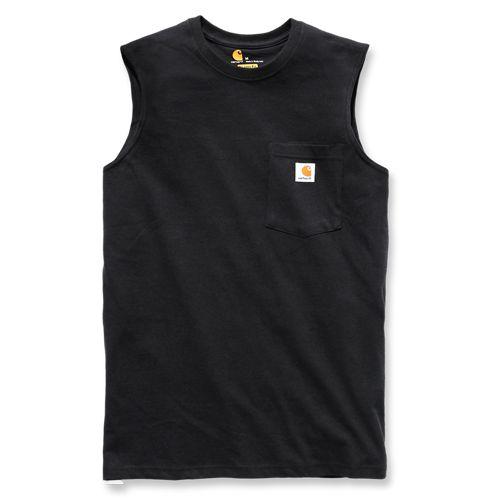 Carhartt,100374,Workwear,Pocket, Sleeveless T-Shirt,Carhartt workwear,Maddock pocket,T-Shirt
