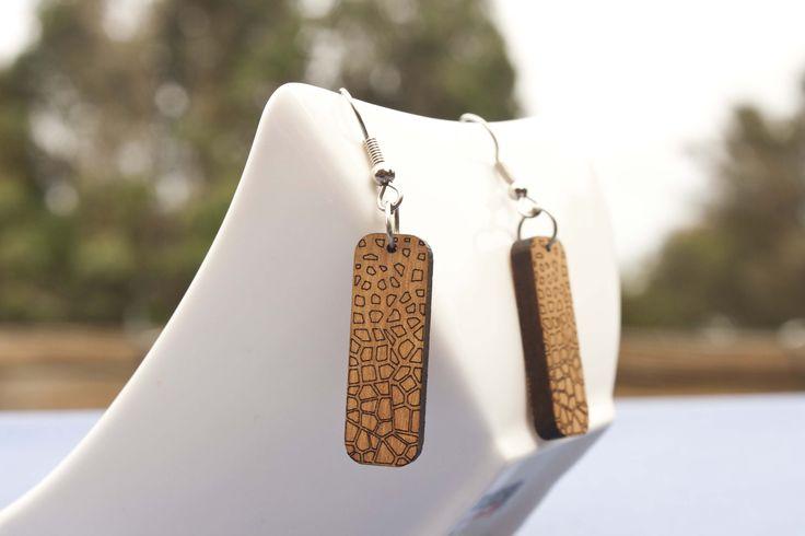 Engraved rimu earrings - $35