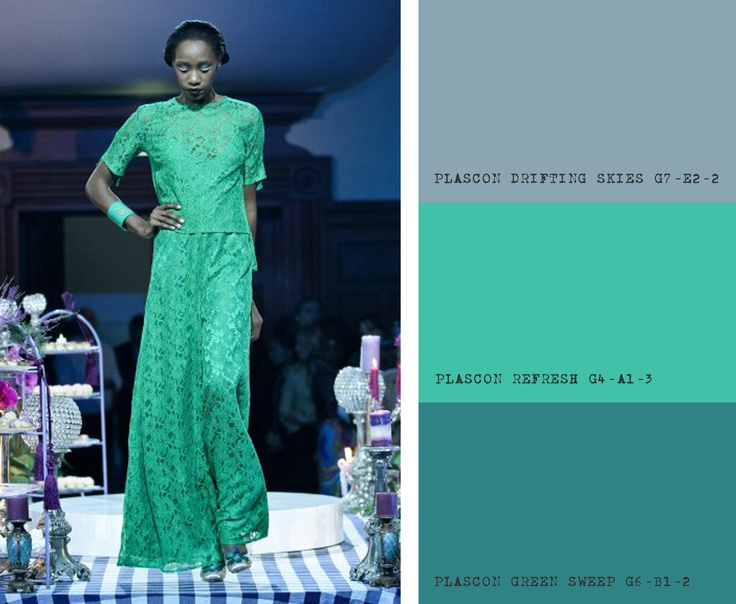 KLuK CGDT Cape Town Fashion Week Show, Colour Inspiration for Greens