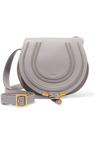 Gray textured-leather (Calf) Tab-fastening front flap Designer color: Cashmere Gray  Comes with dust bag Weighs approximately 1.3lbs/ 0.6kg Made in Spain