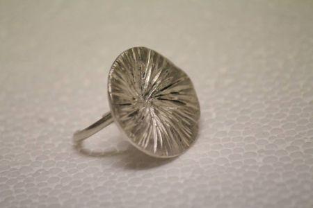 gümüş derin desenli yüzük - silver ring