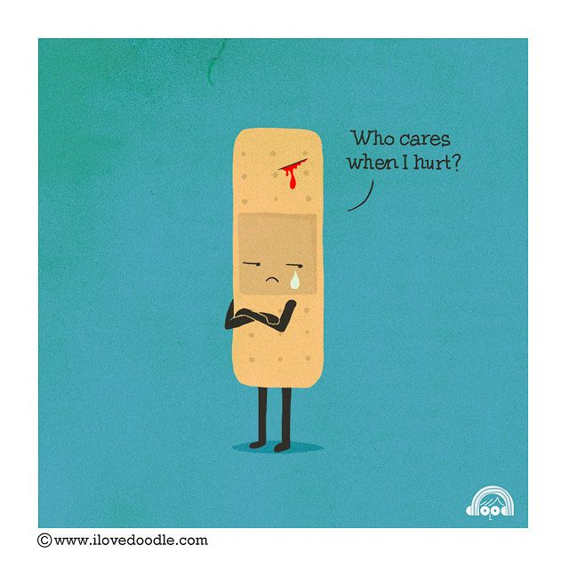 Who cares when I hurt? by ILoveDoodle, via Flickr
