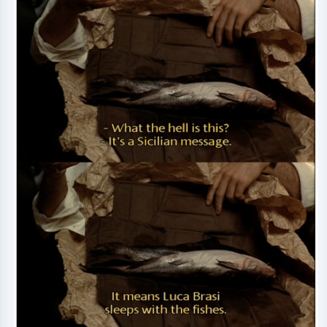 Image result for luca brasi sleeps with the fishes