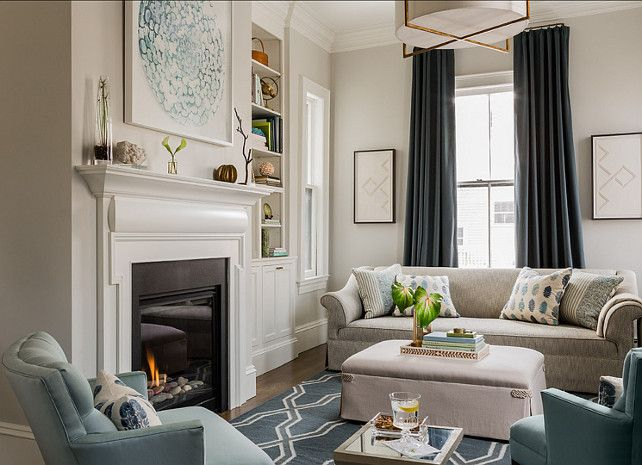"Best Paint Color ""Benjamin Moore Classic Gray 1548 Interior 640 x 480"