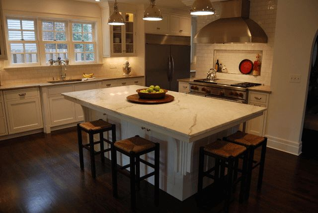 Add Your Kitchen With Kitchen Island With Stools: Kitchen Island With Overhang On Two Sides