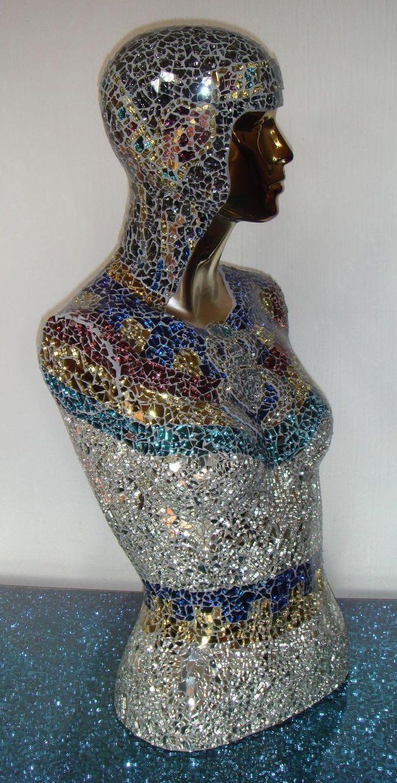 Gem Glass Mosaic Torso Mannequins Pinterest Mosaics