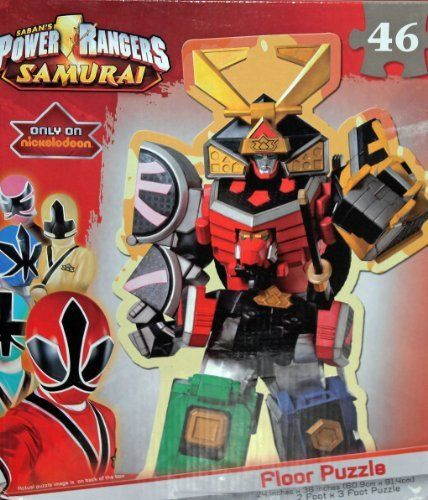 """Power Rangers Samurai Megazord Floor Puzzle by Cardinal Industries. $14.67. puzzle approx. 2 foot by 3 foot when completed. 46 pieces. Power Rangers Samurai """"Megazord"""" 46 piece puzzle. Completed puzzle is approx. 2' x 3'."""