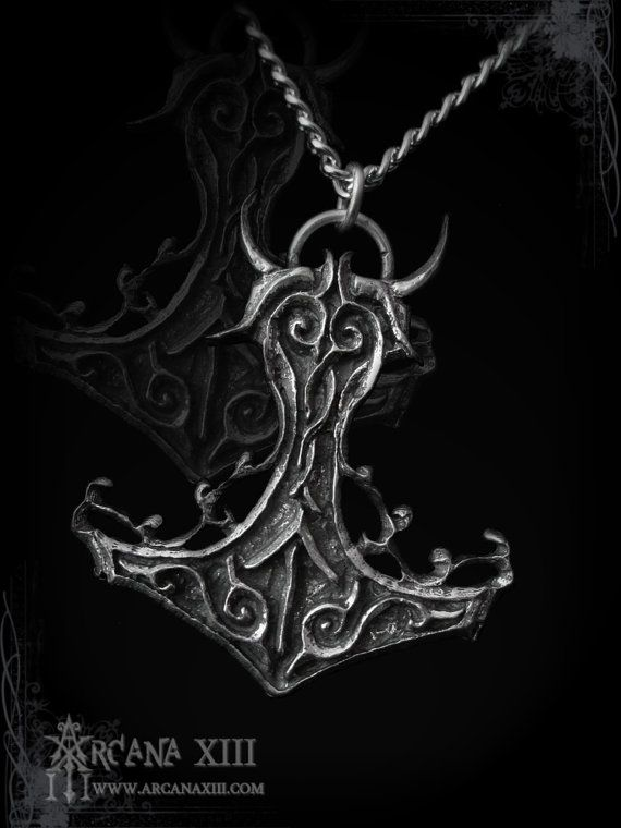 handmade Mjollnir pendant, Thorned Mjollnir, thor hammer, viking pendant necklace, pagan jewelry, wicca,  viking metal, amon amarth, thunder on Etsy, $25.00 AUD