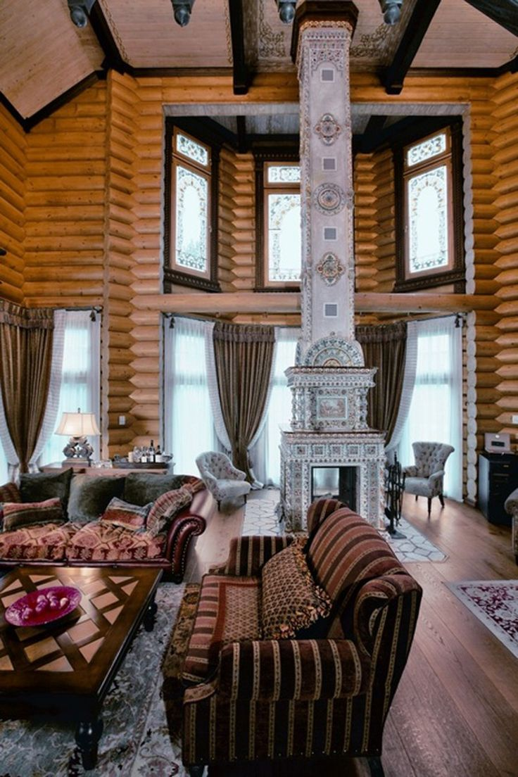 Russian siberian house design fairy tales dream homes living room