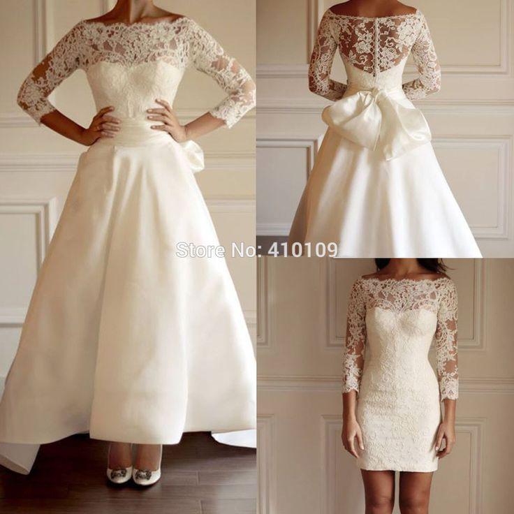 Новинка с длинным рукавом кружева атласный бант пояса регулируемая поезд свадебное платье, принадлежащий категории Свадебные платья и относящийся к Одежда и аксессуары на сайте AliExpress.com   Alibaba Group