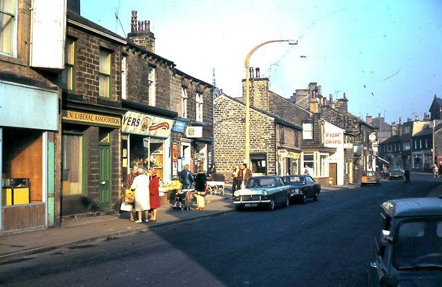 Silsden main street in the 1970s