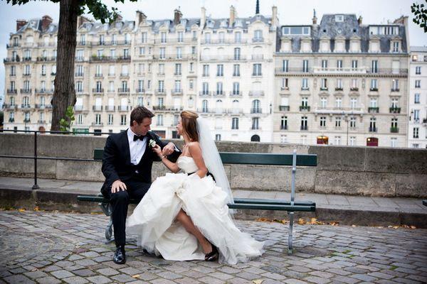 Real Weddings: Tiffany & Brian's Paris Wedding