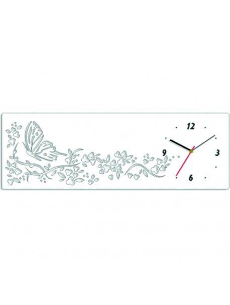 Nástěnné hodiny tapeta. Barva bílá. Rozměr 60 x 20 cm  Kód: FL-z37n-WHITE-RAL9010  Stav: Nový produkt  Dostupnost: Skladem  Přišel čas na změnu! Dekorační hodinky oživí každý interiér, zvýrazní šarm a styl Vašeho prostoru. Zůtulní realít s novými hodinami. Nástěnné hodiny z plexiskla jsou nádhernou dekorací Vašeho interiéru.