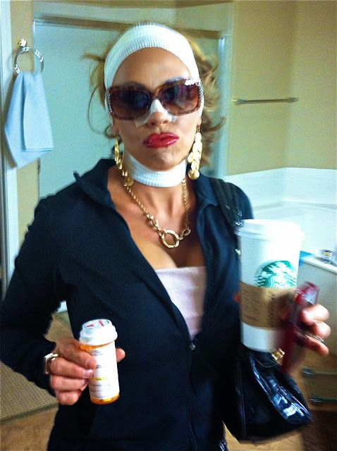 Halloween costume idea:  Plastic surgery addict from the OC.  How to create the look.