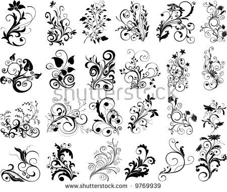 ornamental design elements - vector