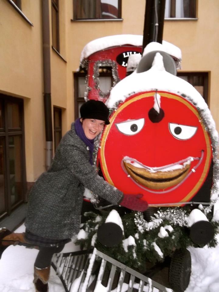 Aino Salomaa is enjoying the winter