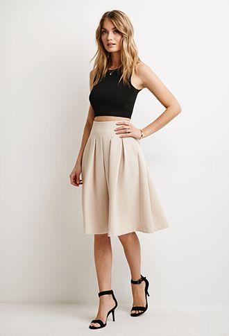 Box Pleat A-Line Skirt | Forever 21 - 2000132180