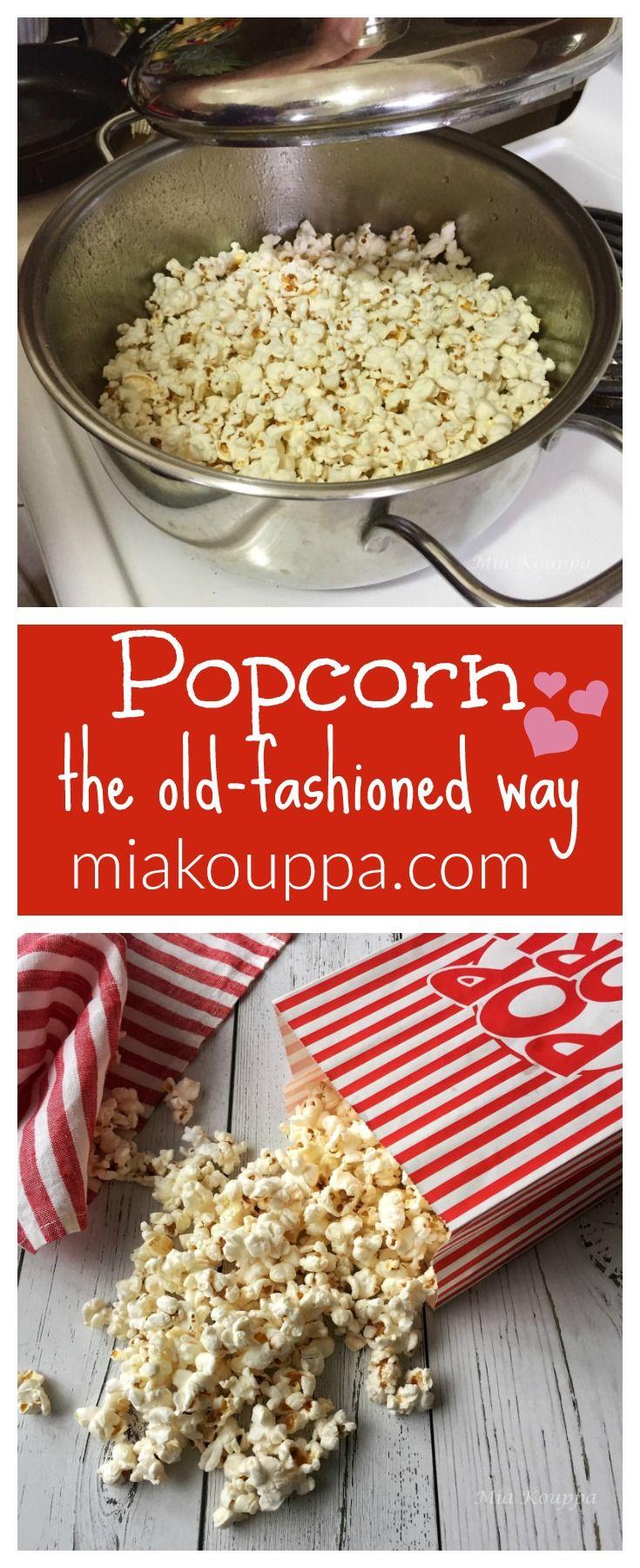 Popcorn Pop Korn Recipe Greek Cooking Greek Recipes Healthy Vegetarian
