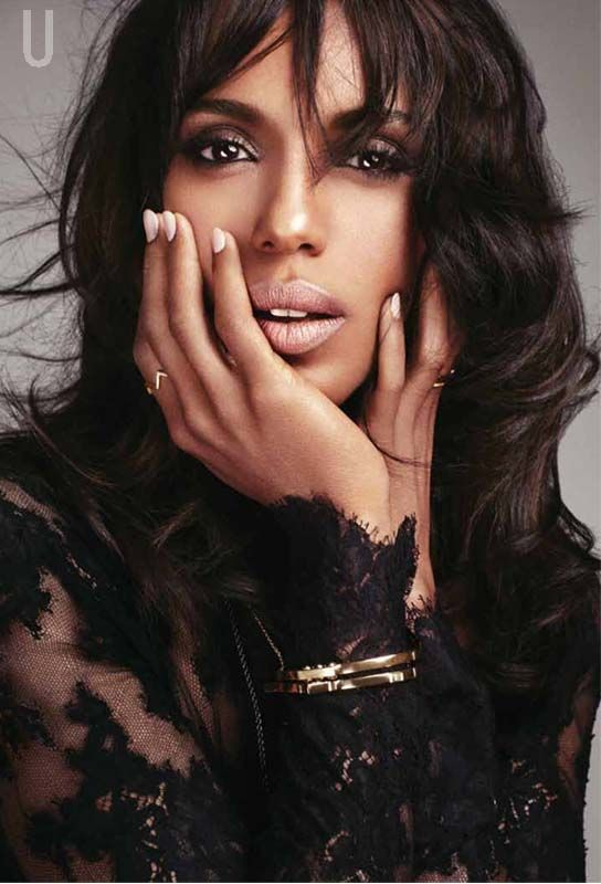 Scandal actress Kerry Washington is looking stunning in black as she poses in a film noir style shoot for Uptown magazine's Dec/Jan issue. Inside, she dishes on the controversy around her new film Django Unchained being a slavery flick, as well as her multiethnic family and the range of roles