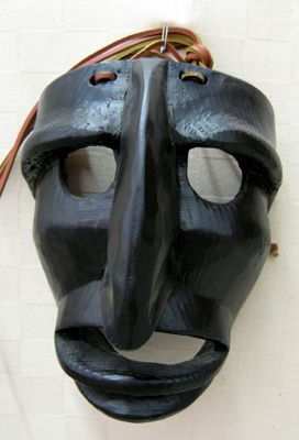 """Mamutones traditional Sardinian """"Mamutones"""" mask. Hand carved in wood"""