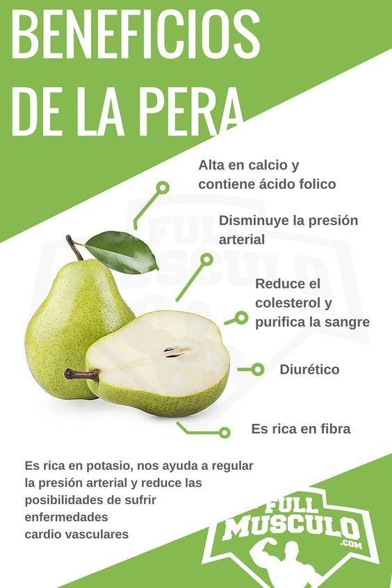 Infografia de los beneficios y propiedades de la pera. #Infografia #Dieta #nutricion #Fitness #Pera