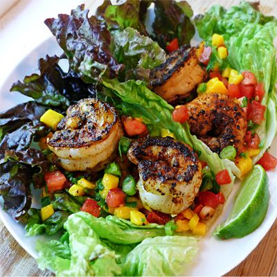 Blackened Shrimp & Mango Salsa...I did make this with blackened chicken. Awesome!