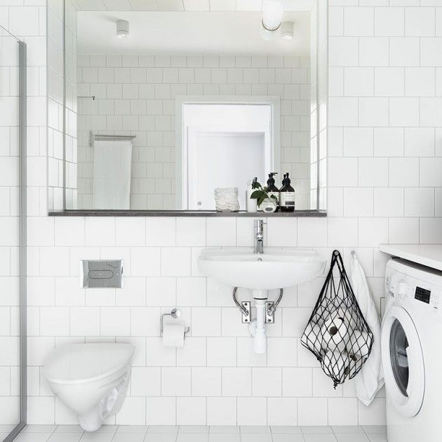 White tiles and black details for the bathroom photo petra bindel