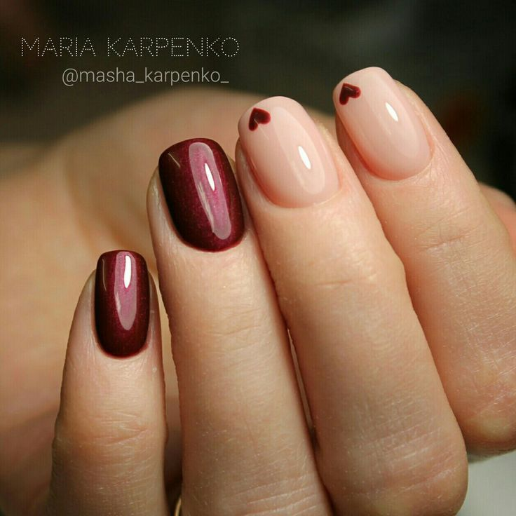 simple valentine\u0027s day nail idea
