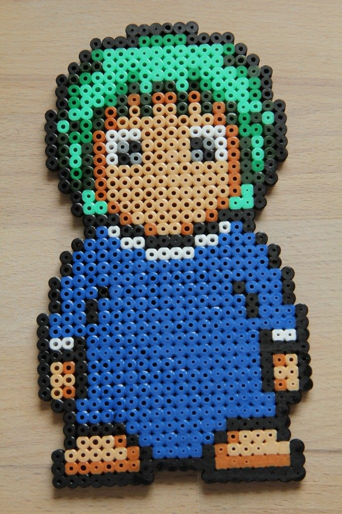 Lemmings hama beads by Sanne Junkuhn