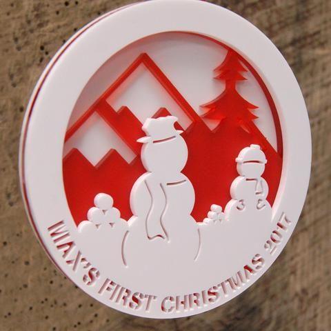 Personalised Layered Acrylic Christmas Bauble