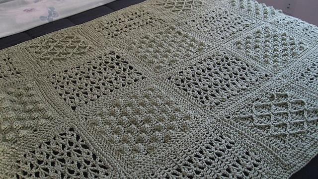 Free Fisherman Sampler Throw Crochet Afghan Patterns