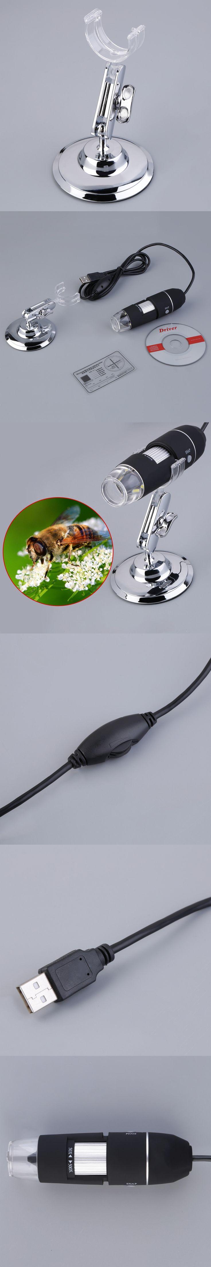 ACEHE Practical Electronics 5MP USB 8 LED Digital Camera Microscope Endoscope Magnifier Magnification Measure