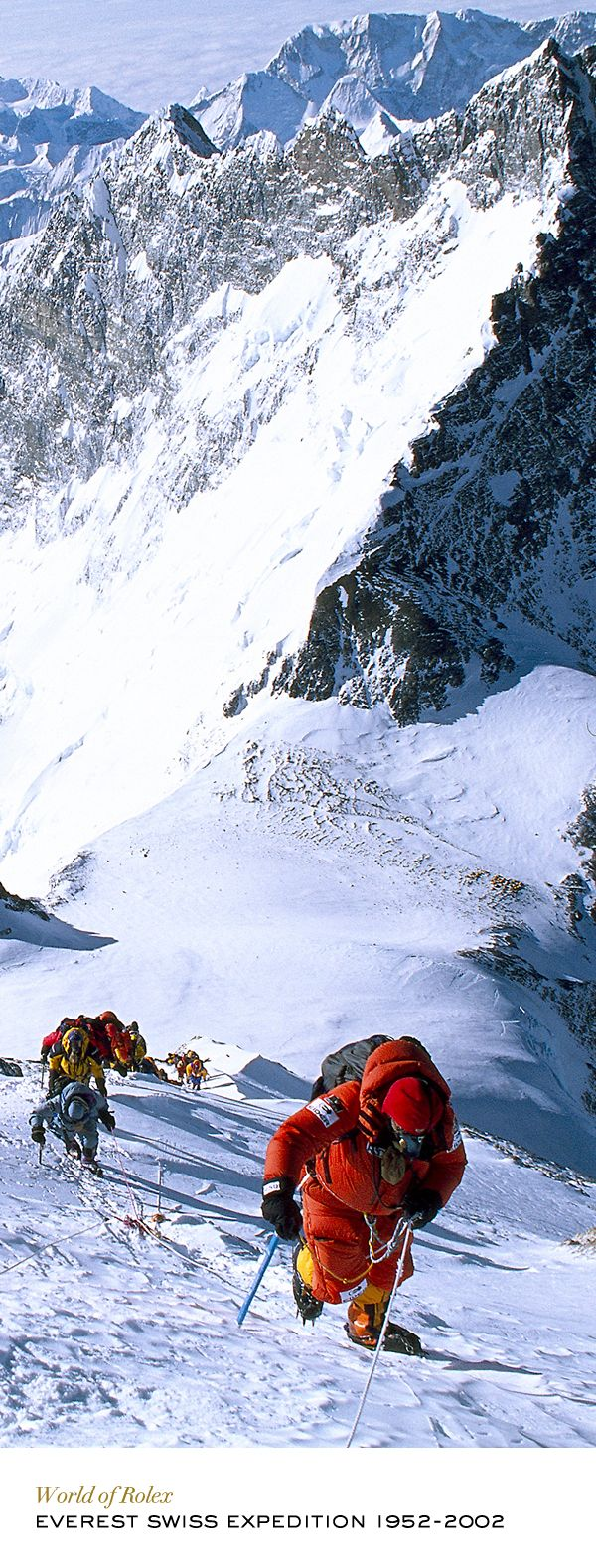 Rolex watches accompanied Swiss mountaineers to Mount Everest in 2002 to mark the 50th anniversary of their compatriots' expedition in 1952. #RolexOfficial