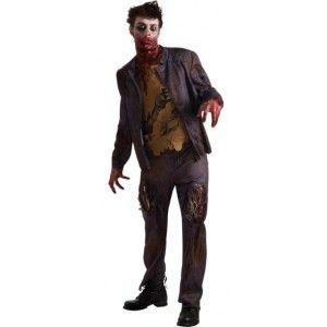 Déguisement zombie shawn adulte homme, Déguisement zombie shawn mort vivant effrayant avec taches de sang, thorax et pièces en eva tachés de sang, Halloween, costume.