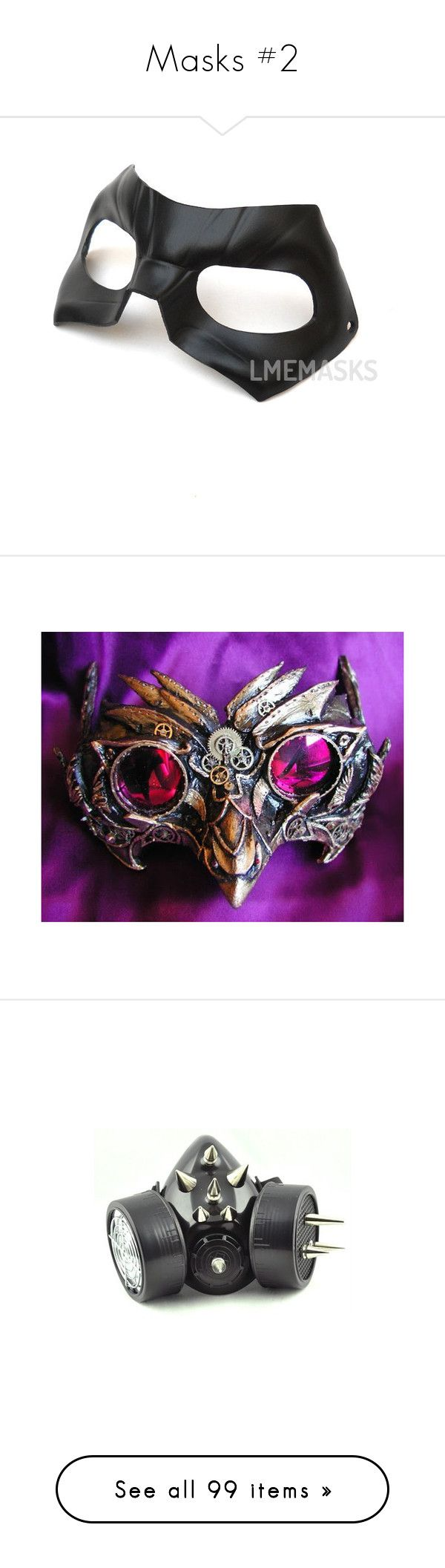 """""""Masks #2"""" by lucy-wolf ❤ liked on Polyvore featuring costumes, carnival costumes, adult superhero costumes, cosplay costumes, superhero cosplay costumes, super heroes comic book, masks, accessories, steampunk and mask"""