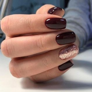 37 + The Argument About Burgundy Christmas Nails Gold Glitter 21